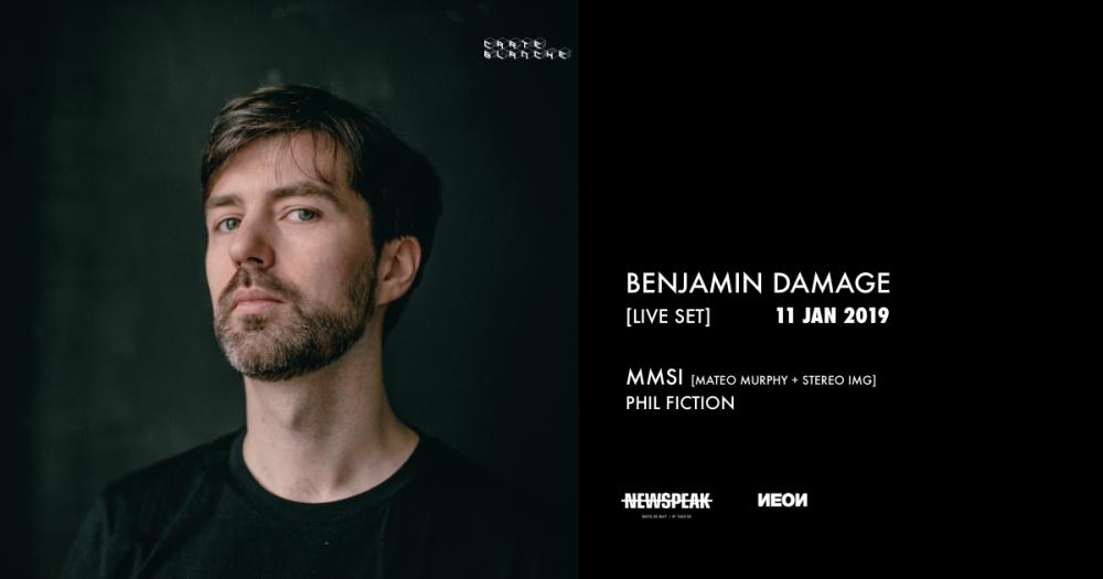 FB banner - Benjamin Damage - Newspeak